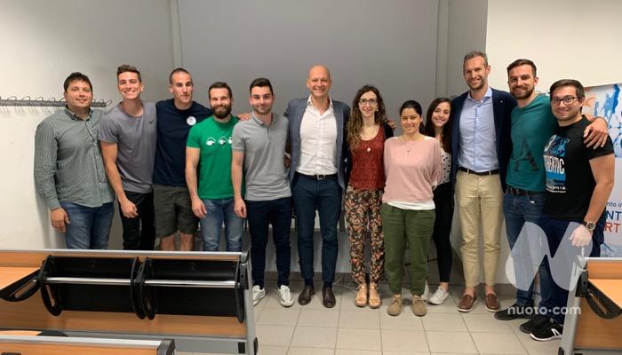 Domenico Fioravanti e Andrea Beccari con alcuni degli iscritti al Corso di Perfezionamento in Management dello Sport
