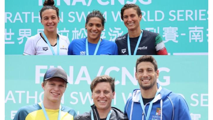 3 azzurri sul podio nella 10 km FINA di Taipei