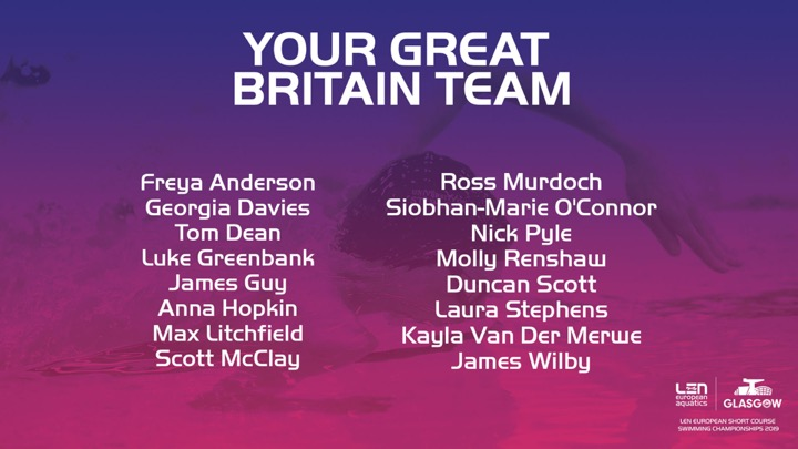 Il Team GBR per Glasgow senza Peaty
