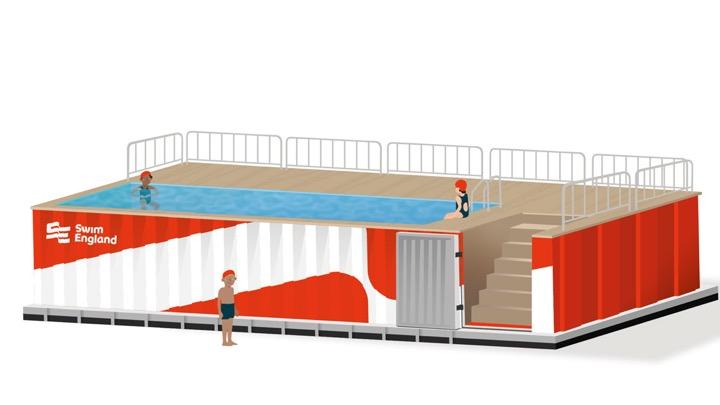 La piscina portatile per le scuole inglesi