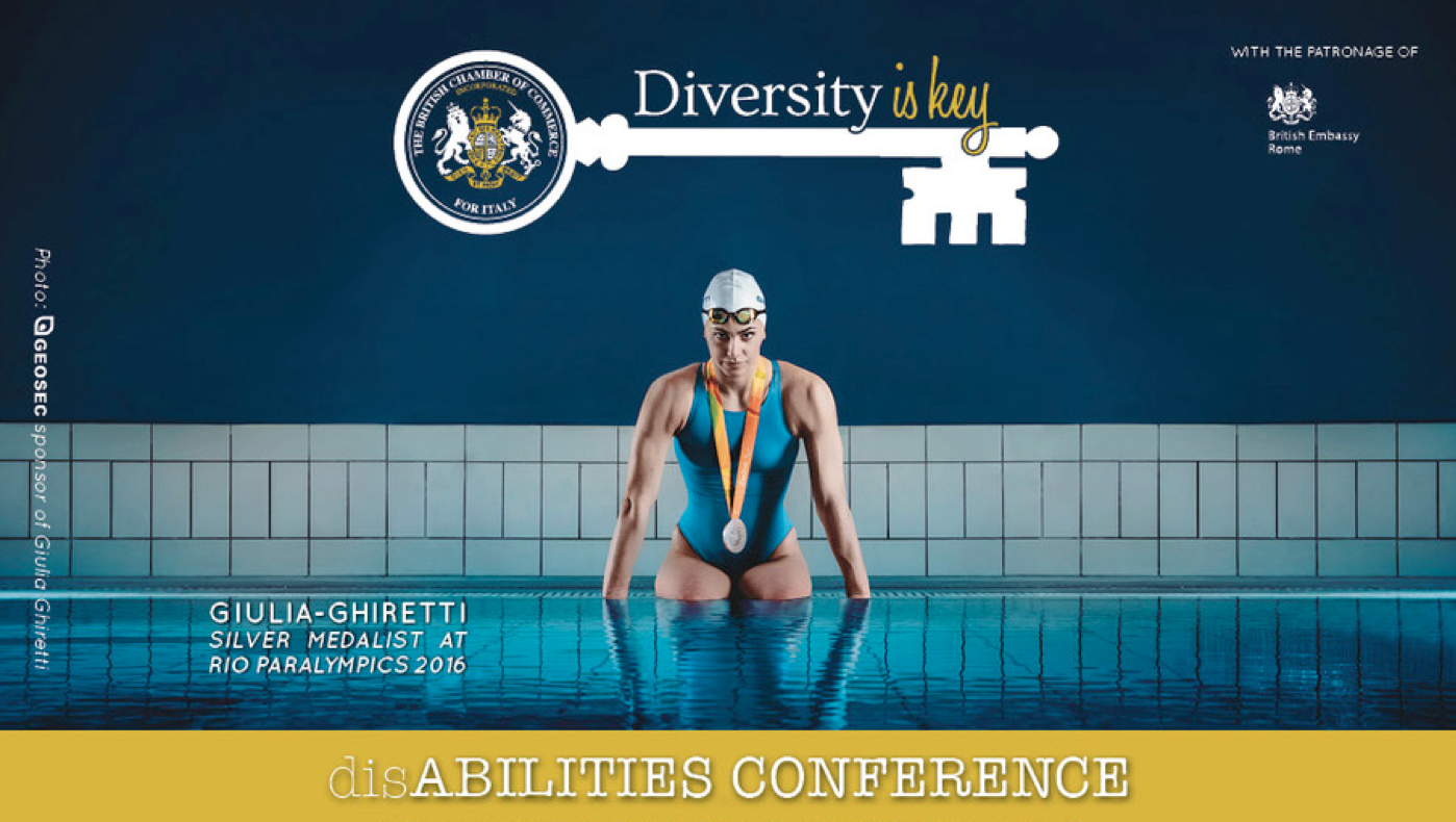 Giulia Ghiretti madrina di Diversity is Key