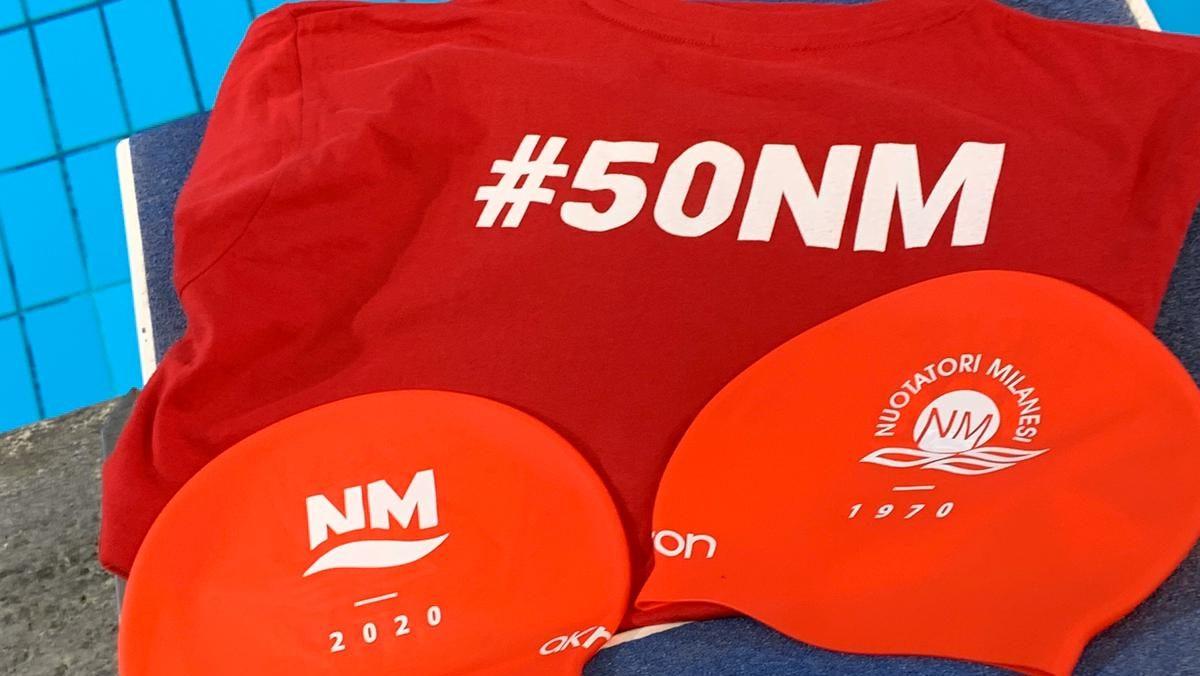 Gara sociale Nuotatori Milanesi. Per il cinquantesimo un nuovo logo.