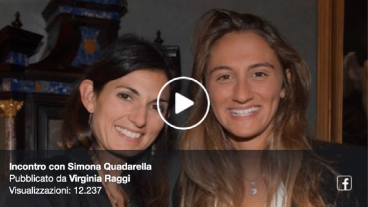 La Sindaca Raggi incontra Simona Quadarella (Video)