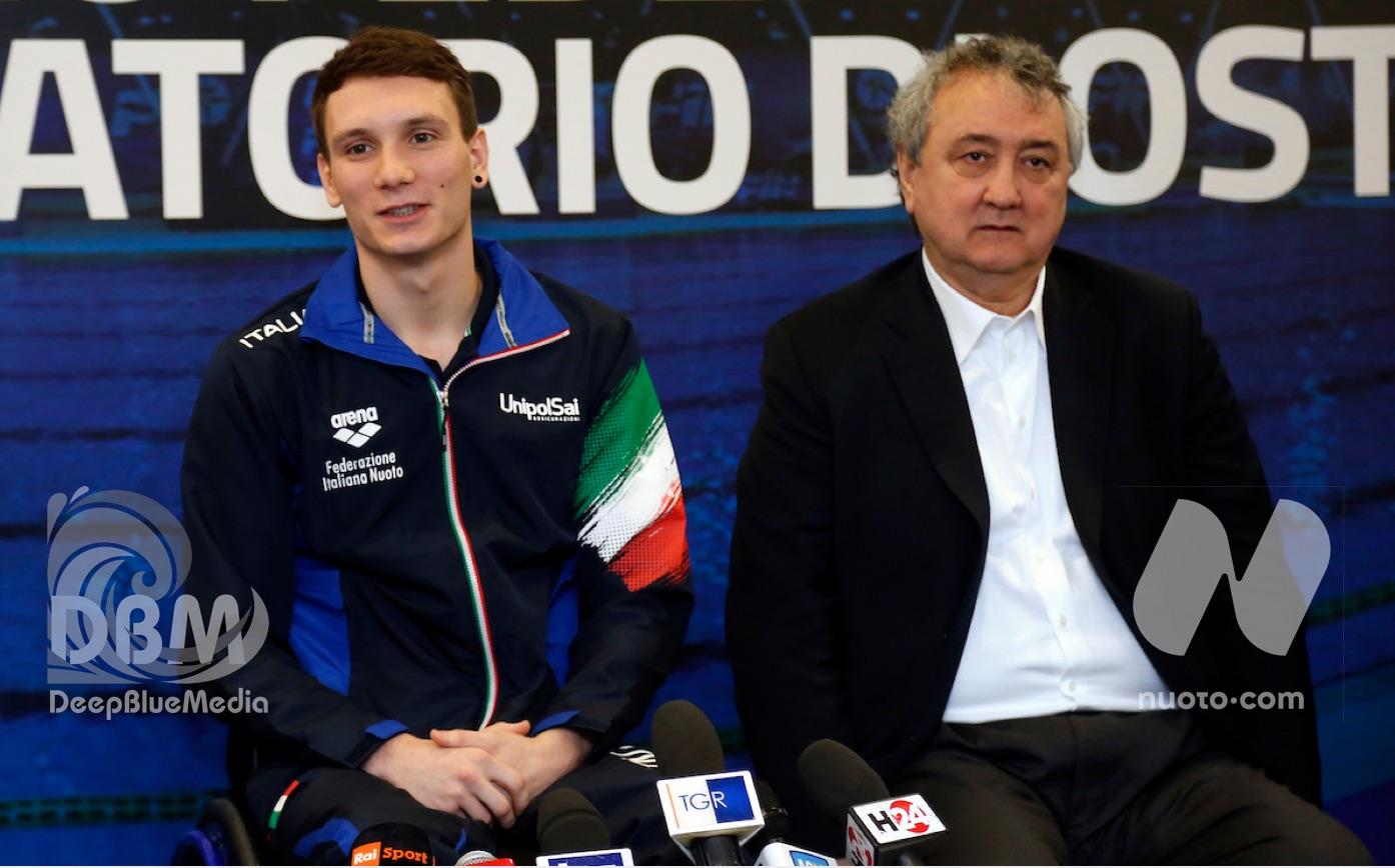 Paolo Barelli e Manuel Bortuzzo in Senato