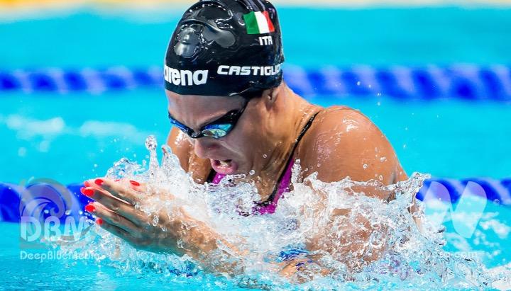 Arianna Castiglioni nel team ISL Aqua Centurions
