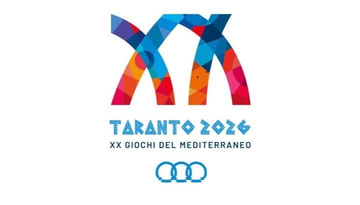 Taranto 2026 – Il logo dei Giochi del Mediterraneo