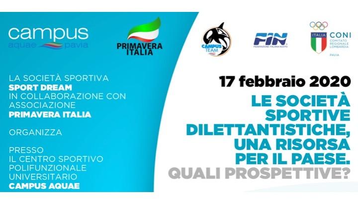 Le società sportive dilettantistiche… Se ne parla a Pavia