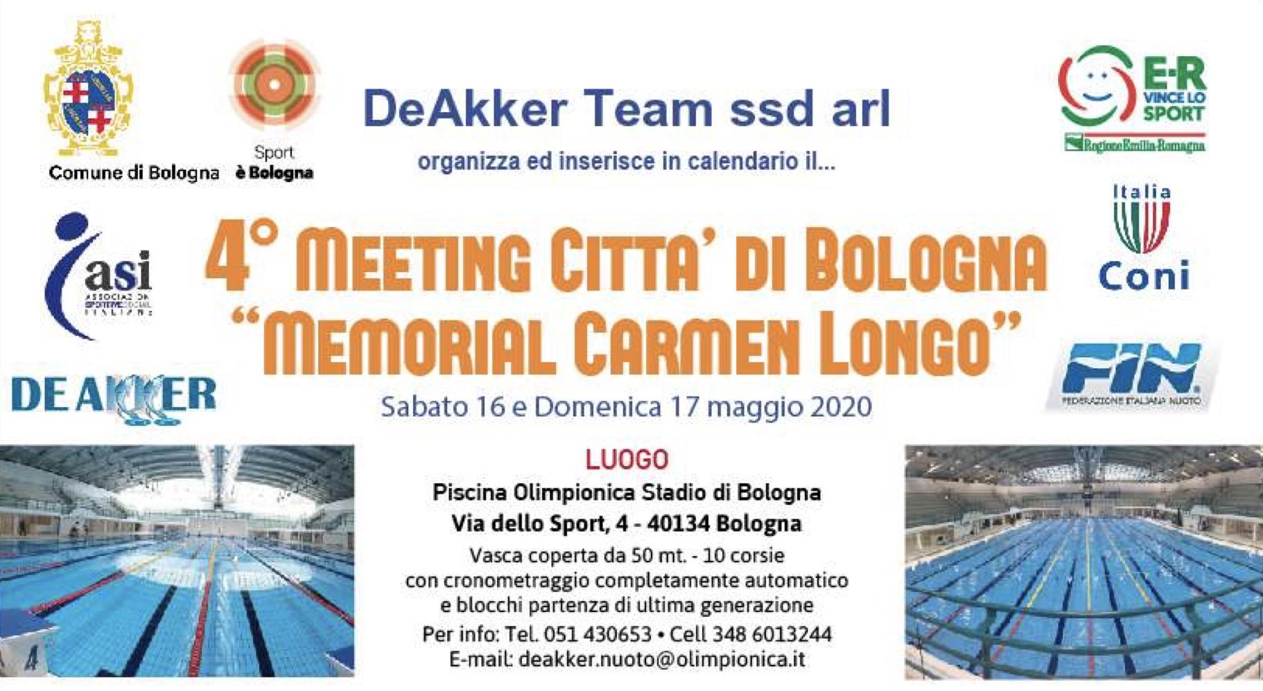 "4° Meeting Città di Bologna ""Memorial Carmen Longo"""