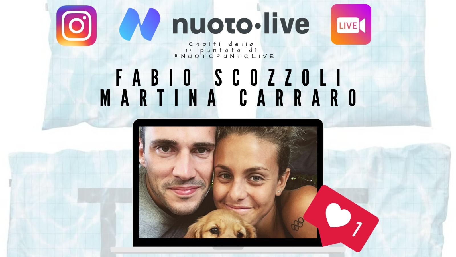 Carraro e Scozzoli live su Instagram per Nuotopuntolive