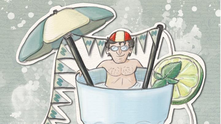 I nuovi disegni dell'illustratore Filippo Barbacini per i giovani nuotatori