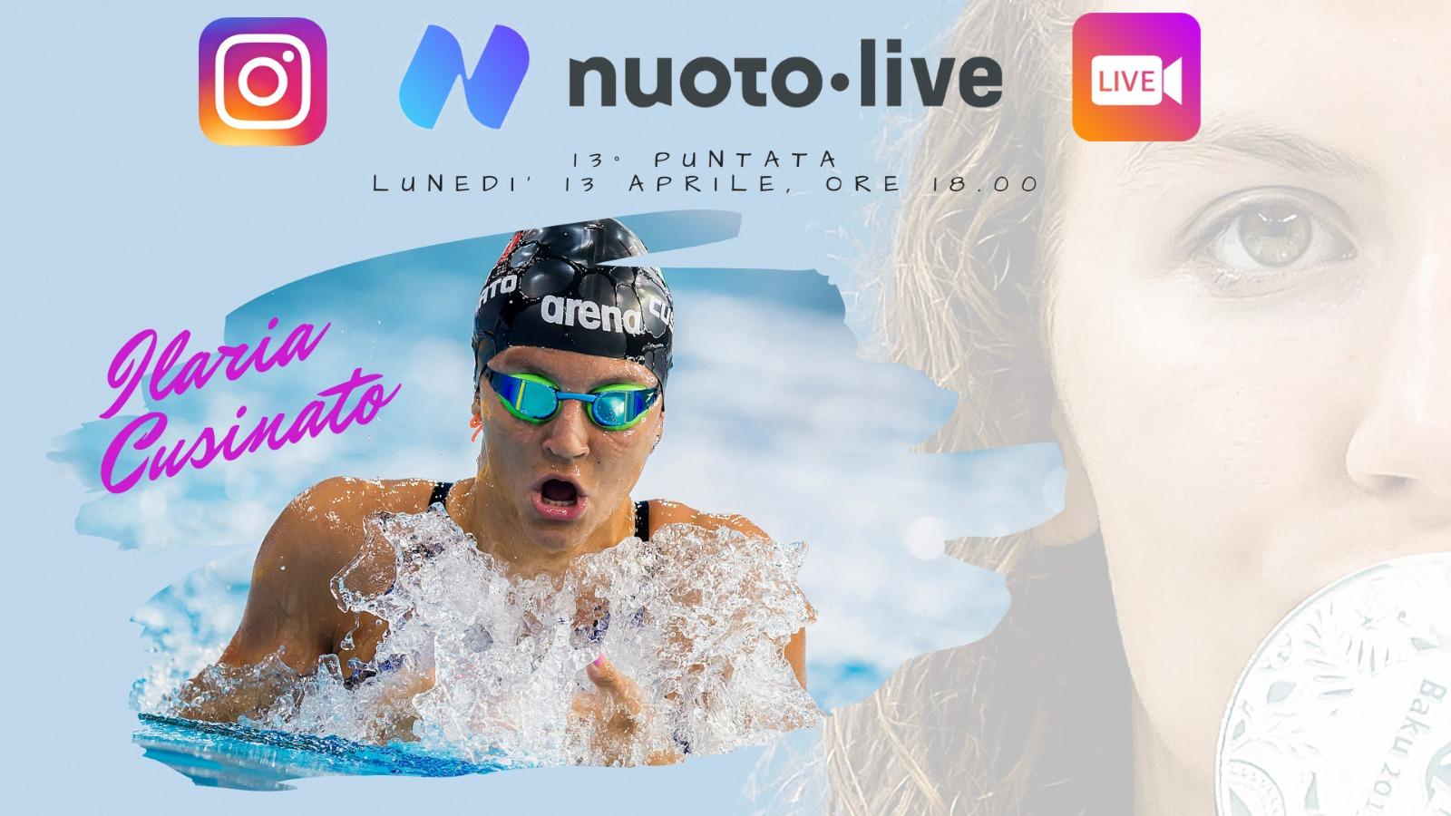 """#Nuotopuntolive, 13° puntata. Ilaria Cusinato: """"voglio tornare ai livelli del 2018. In futuro anche i 200 stile libero"""""""