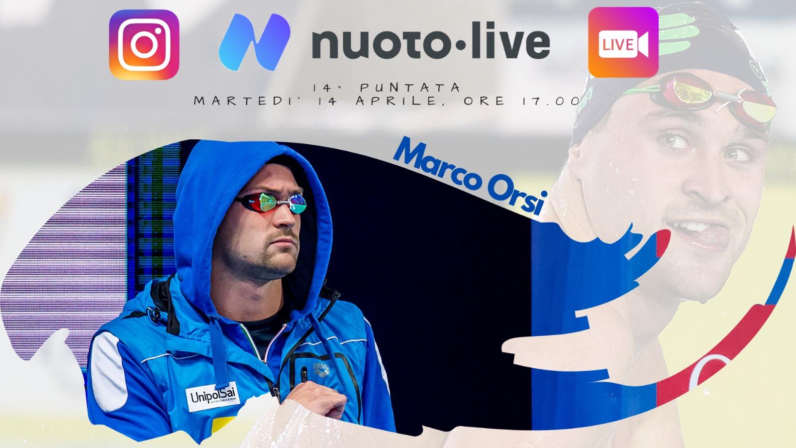 """#Nuotopuntolive 14° puntata. Marco Orsi: """"Sono un animale da competizione e non vedo l'ora di tornare a gareggiare."""""""