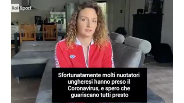 Il messaggio di Katinka Hosszu per l'Italia (Raisport)