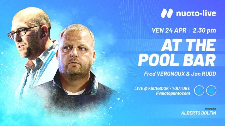 At the pool bar: Fred Vergnoux e Jon Rudd per nuoto•live