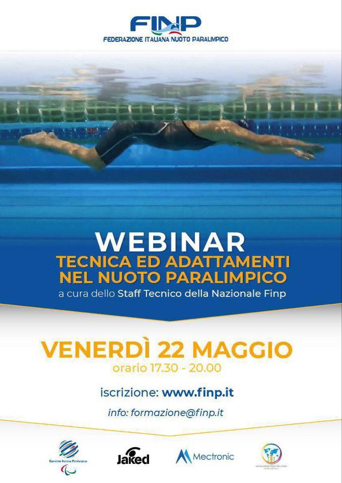 """FINP: """"Tecnica e adattamenti nel nuoto paralimpico"""""""