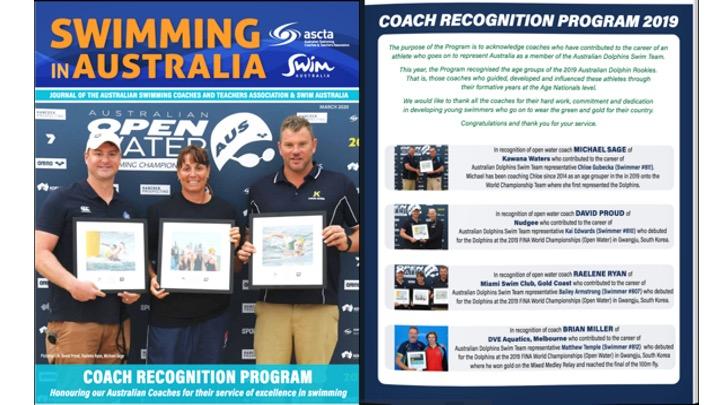 On line il magazine dell'Ascta. Swimming in Australia