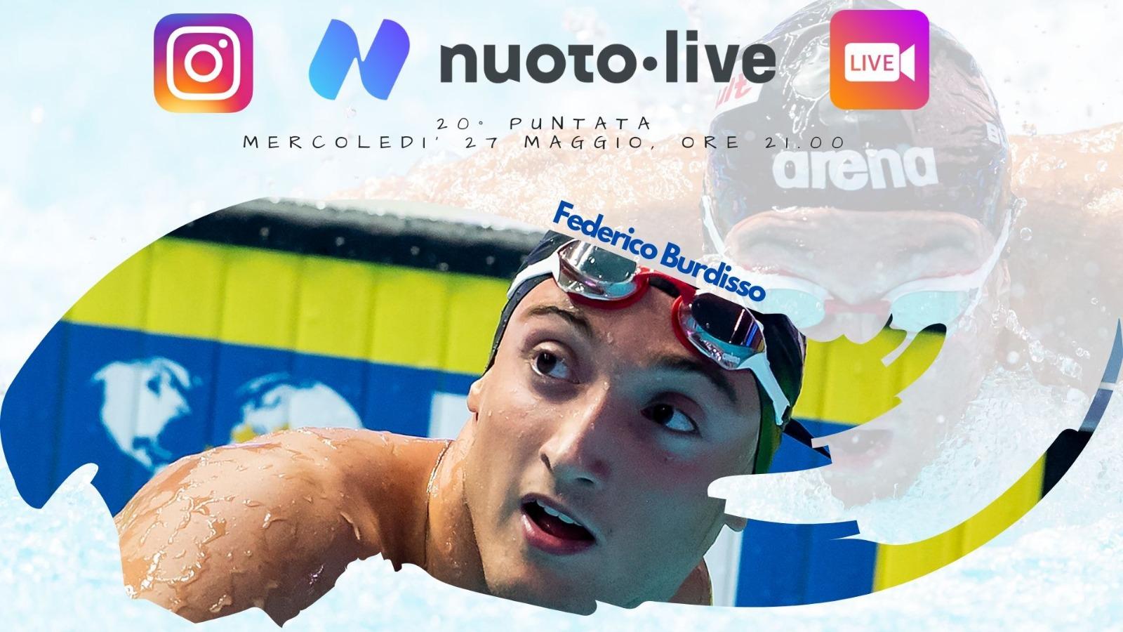 Federico Burdisso su Instagram per Nuotopuntolive