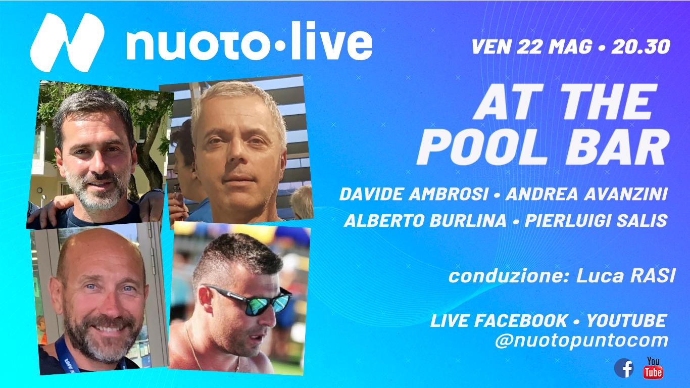Stasera torna il live At the Pool Bar. Ore 20.30 diretta FB e YT