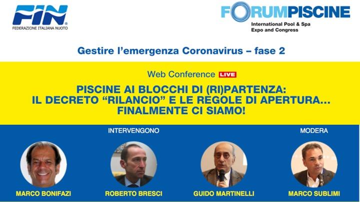 """ForumPiscine web conference. """"Piscine ai blocchi di (ri)partenza …"""""""