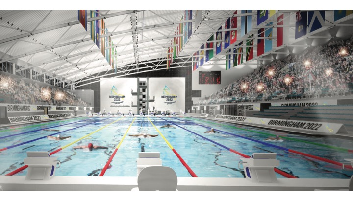 Senza sosta i lavori per l'Aquatics Center di Birmingham 2022