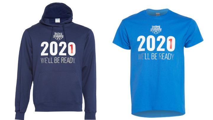 """USA Swimming. Il merchandising """"2021 – We'll be ready"""" a sostegno degli atleti"""