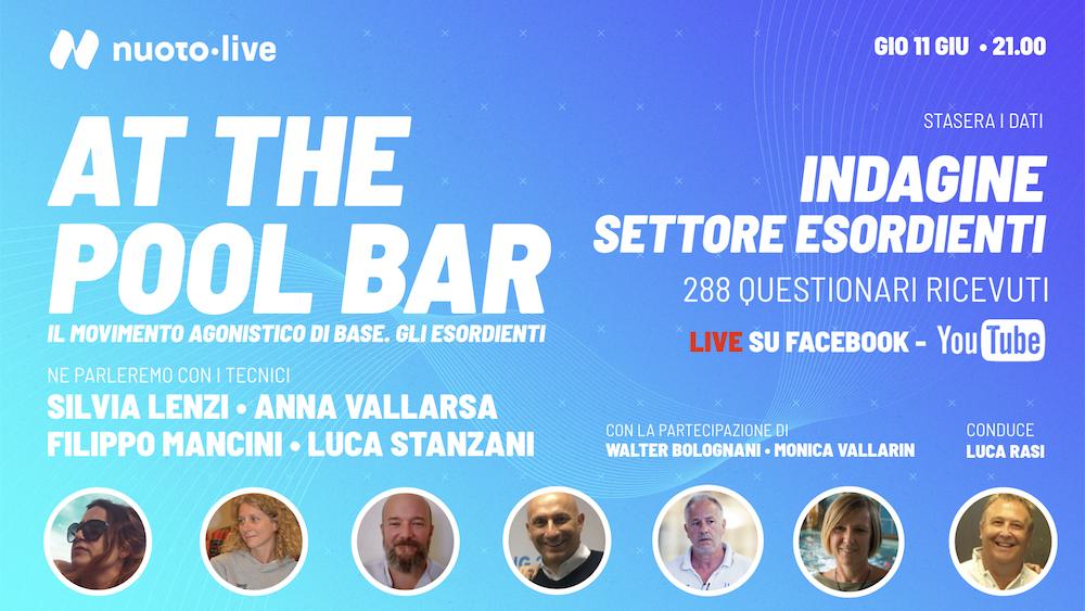 Stasera Live At The Pool Bar. Presenteremo i dati dell'indagine esordienti