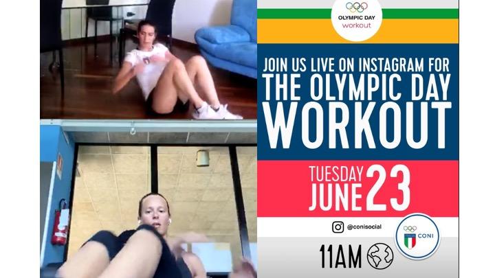 Federica Pellegrini. Allenamento live per l'Olympic Day (VIDEO)