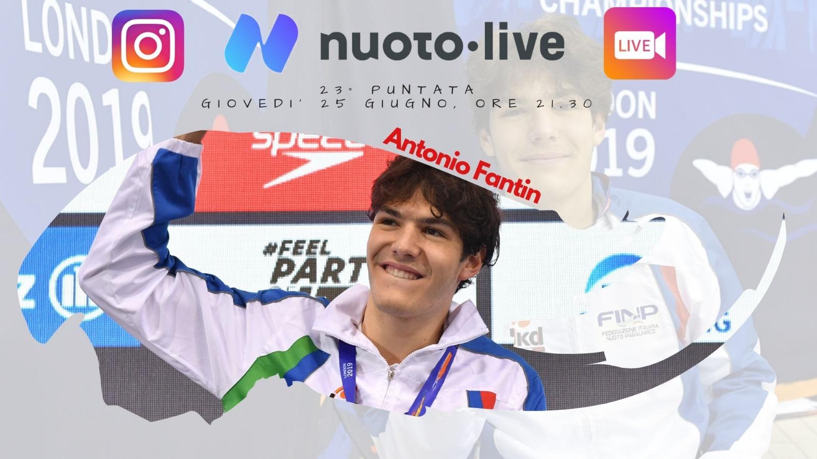 """Nuotopuntolive, 23° puntata. Antonio Fantin: """"Vincere e poi confermarsi, due emozioni diverse"""""""