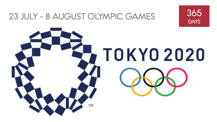 365 giorni ai Giochi di Tokyo.
