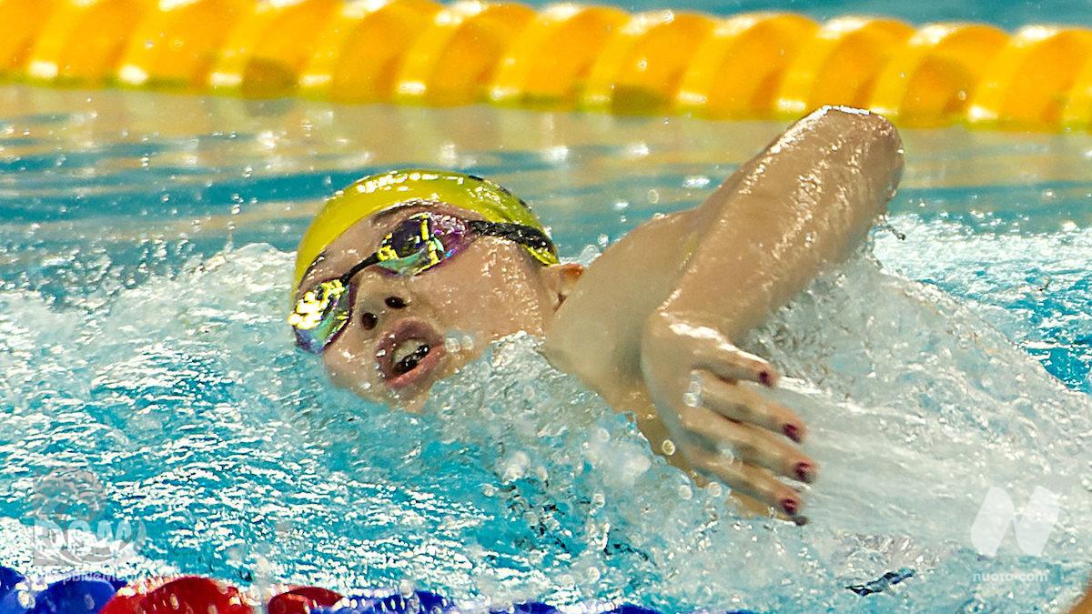 Hong Kong. 200 stile libero Siobhan Haughey (1.54.89). Terzo crono mondiale stagionale.