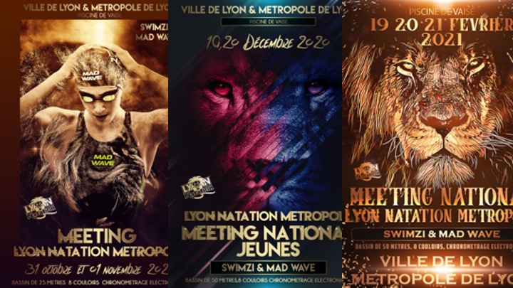 Calendarizzati i tre meeting della Lyon Natation Métropole