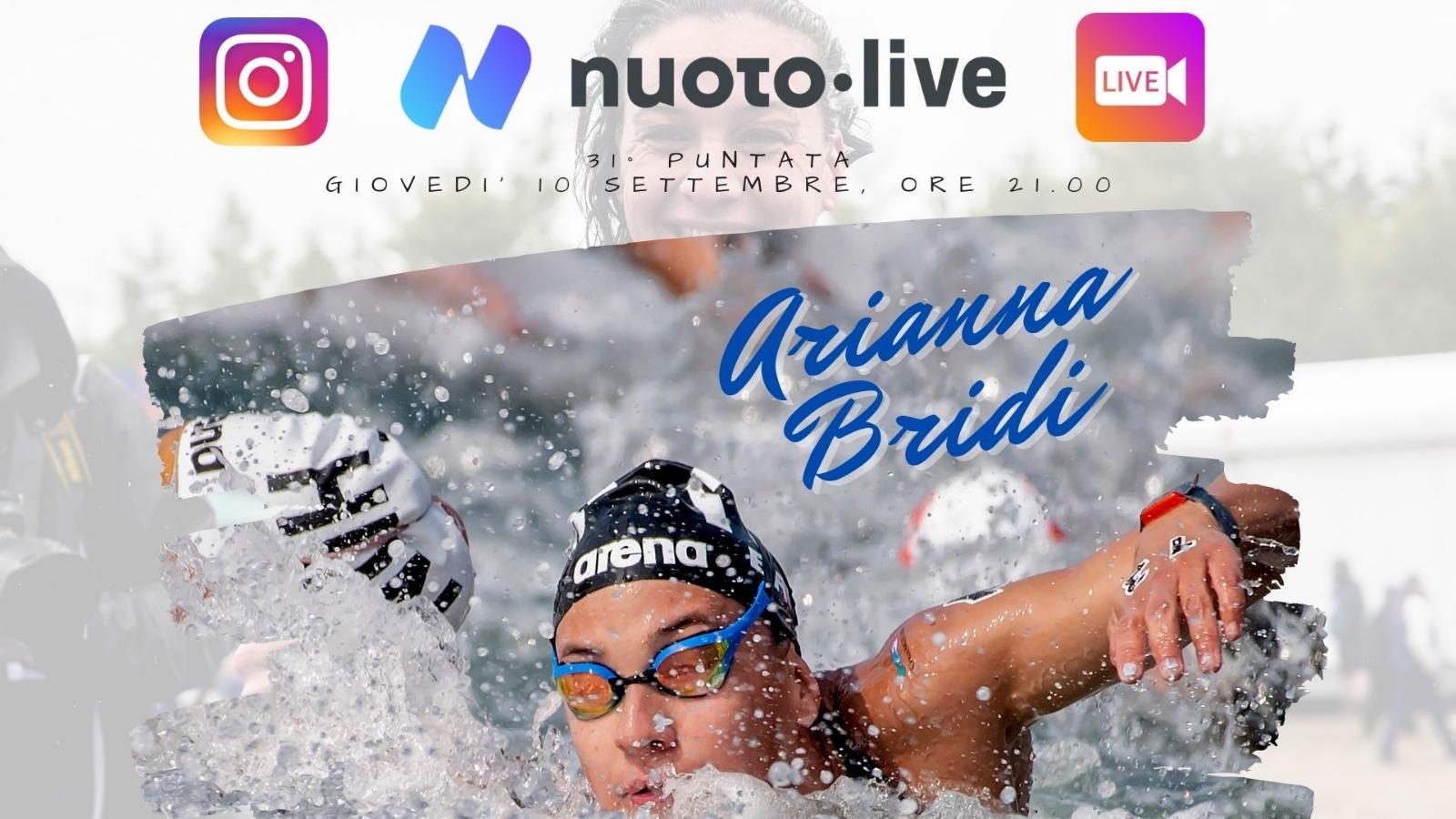 Arianna Bridi su Instagram per Nuotopuntolive