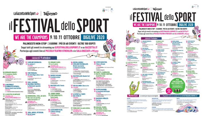 Al via oggi il III Festival dello Sport. La federnuoto presente.