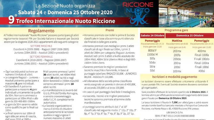 9° Trofeo Int. Nuoto Riccione
