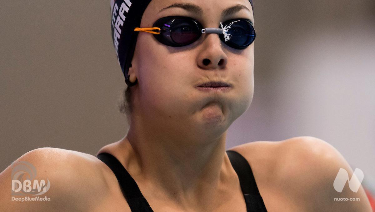 Bologna. Martina Carraro nuota 1.06.43 nei 100 rana.