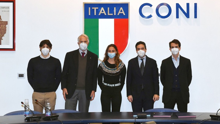 Simona Quadarella ed Edoardo Giorgetti testimonial CONI – Link Campus University