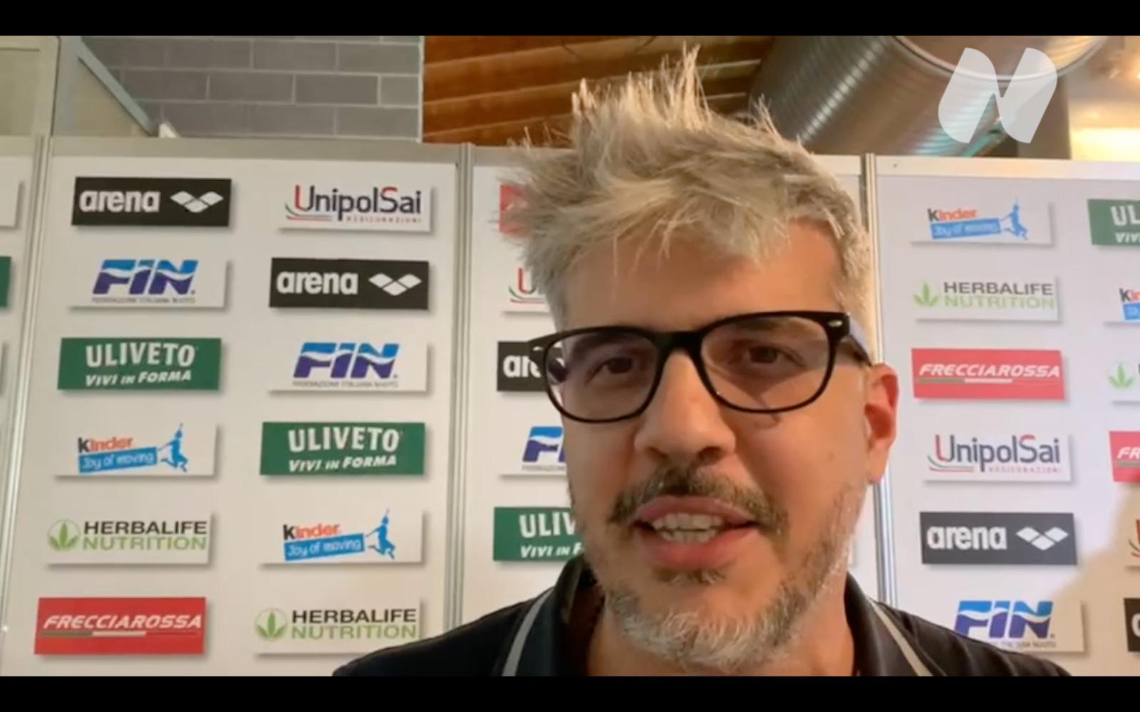 """VIDEO – Antonio Satta sui 100 stile libero di Alessandro Miressi: """"Ci è mancato l'ultimo 25"""""""