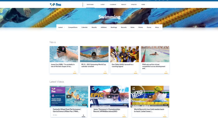 FINA New Website