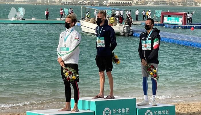 Paltrinieri terzo nella dieci chilometri a Doha. Sanzullo quarto