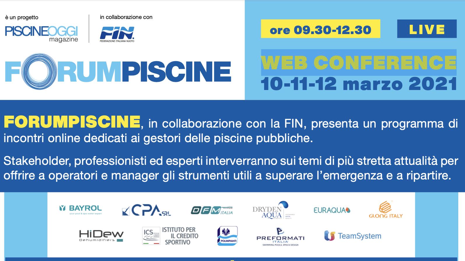 Forumpiscine, web conference in collaborazione con Federnuoto