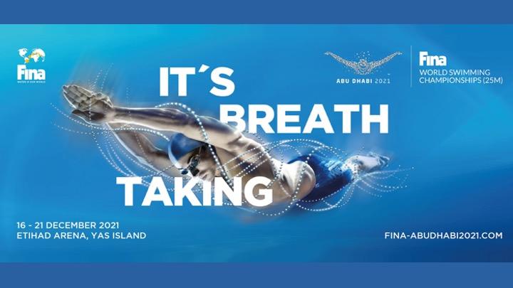 Presentato il logo dei 15th FINA World Swimming Championships (25m) di Abu Dhabi (EAU).