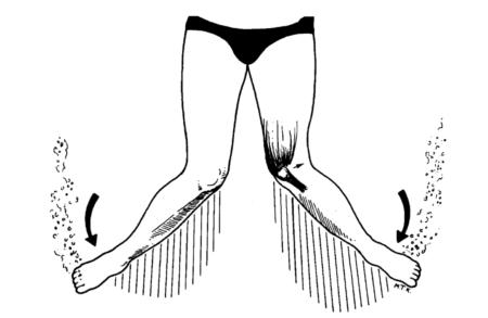 Breaststroke flutter