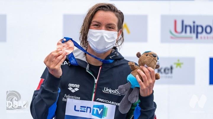 10 Km femminile. Bronzo per Rachele Bruni. Quinta Giulia Gabbrielleschi, settima Ginevra Taddeucci.