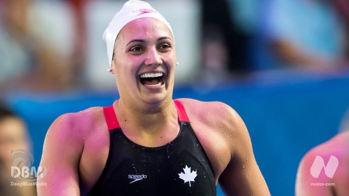Trials Canada. D1. FINALI. 100 dorso: Masse Kylie 57.70 RN. 100 farfalla: Maggie McNeil 56.19.