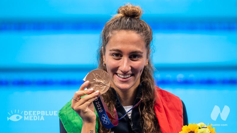 Day 8. 800 stile libero: Riscatto di bronzo per Simona Quadarella. 4×100 mista mixed: Italia quarta. Lorenzo Zazzeri in finale nello sprint. (VIDEO)