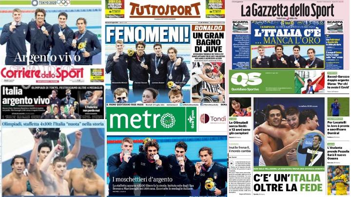 Il nuoto in prima pagina sui principali quotidiani nazionali
